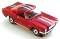 65 Ford® Mustang® 2+2 MoDEL MoToRING HO SLoTCaR - Candy Red WS
