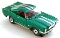 65 Ford® Mustang® 2+2 MoDEL MoToRING HO SLoTCaR - Candy Green WS
