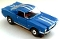 65 Ford® Mustang® 2+2 MoDEL MoToRING HO SLoTCaR - Blue WS
