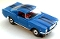 65 Ford® Mustang® 2+2 MoDEL MoToRING HO SLoTCaR - Blue BS