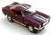 65 Ford® Mustang® 2+2 MoDEL MoToRING HO SLoTCaR - Burgundy WS