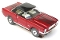 65 Mustang® Black Top MoDEL MoToRING HO SLoTCaR - Candy Red BS