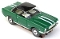 65 Mustang® Black Top MoDEL MoToRING HO SLoTCaR - Green WS