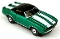 69 Chevy Camaro Convertible MoDEL MoToRING HO Slot Car - Candy Green WS