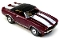 69 Chevy® Camaro® Convertible MoDEL MoToRING HO Slot Car-Burgundy WS