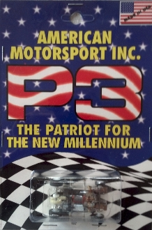 Wizzard Visible Patriot 3 Limited Edition Collectible HO Slot Car