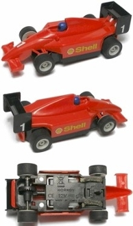 Micro Scalextric HO Slot Car INDY F1 Shell #1 Red