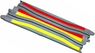 Micro Scalextric Squeeze Chicane Track 9 inch