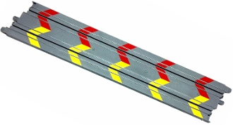 Micro Scalextric 15 inch Track Straight gray