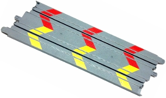 Micro Scalextric 9 inch Track Straight gray