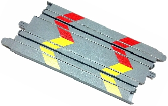 Micro Scalextric 6 inch Track Straight gray
