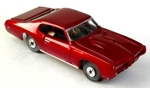 69 Pontiac GTO MoDEL MoToRING HO Slot Car - Candy Red