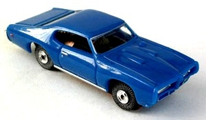 69 Pontiac GTO MoDEL MoToRING HO Slot Car - Blue