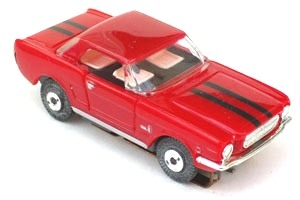 65 Mustang® Coupe MoDEL MoToRING HO Slot Car - Red BS
