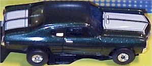 Chevy Chevelle Green JL TJet 500 Tuff Ones HO Slot Car