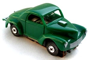 41 Willys® Gasser™ MoDEL MoToRING HO SLoTCaR - Green