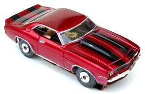 69 Chevy® Camaro® Z28® MoDEL MoToRING HO SLoTCaR - Candy Red BS